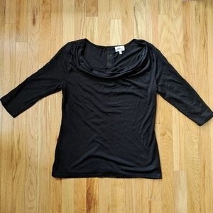 Deletta Cowl-neck Light L/S with Lace Detail